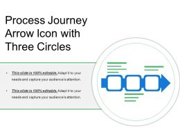 Process Journey Arrow Icon With Three Circles