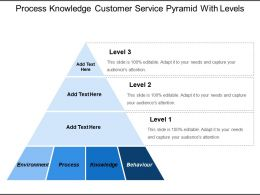 Process Knowledge Customer Service Pyramid With Levels