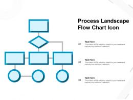 Process Landscape Flow Chart Icon