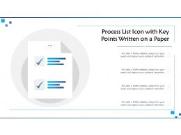 Process List Icon With Key Points Written On A Paper