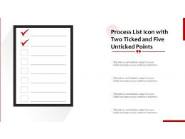Process List Icon With Two Ticked And Five Unticked Points