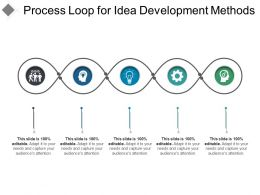 Process Loop For Idea Development Methods Ppt Icon