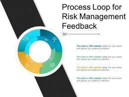 Process Loop For Risk Management Feedback Ppt Model