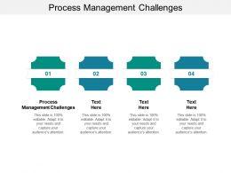 Process Management Challenges Ppt Powerpoint Presentation Slides Pictures Cpb