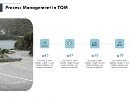 Process Management In TQM 2016 To 2019 Ppt Powerpoint Slides