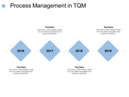 Process Management In Tqm 4 Year Process Ppt Powerpoint Presentation Slides Tips