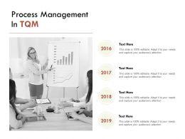 Process Management In TQM Agenda Timeline E222 Ppt Powerpoint Presentation File Format