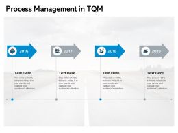 Process Management In Tqm Four Years Ppt Powerpoint Presentation Show Ideas