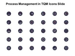 Process Management In TQM Icons Slide Growth Ppt Powerpoint Presentation Ideas Professional