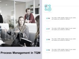 Process Management In TQM Ppt Powerpoint Presentation Inspiration Visuals