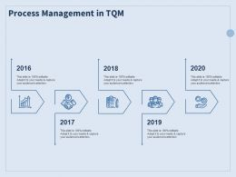 Process Management In TQM Ppt Powerpoint Presentation Styles