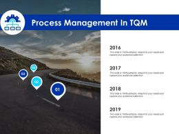 Process Management In Tqm Roadmap Four Year Ppt Powerpoint Presentation Vector