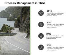 Process Management In TQM Roadmap K381 Powerpoint Presentation