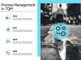 Process Management In TQM Timeline Years E186 Ppt Powerpoint Presentation Slides Styles