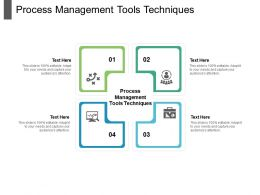 Process Management Tools Techniques Ppt Powerpoint Presentation Professional Graphics Template Cpb