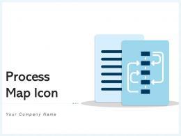 Process Map Icon Business Development Strategy Hierarchy Organizational