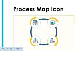 Process Map Icon Continuous Improvement Illustrating Business Optimize Resources
