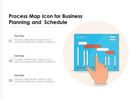 Process Map Icon For Business Planning And Schedule