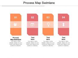 Process Map Swimlane Ppt Powerpoint Presentation Ideas Guide Cpb