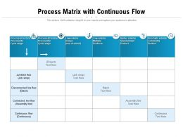 Process Matrix With Continuous Flow