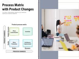 Process Matrix With Product Changes