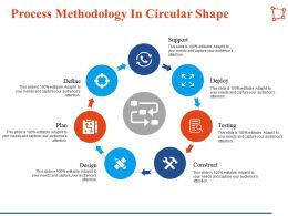 Process Methodology In Circular Shape Support Planning Ppt Infographic Template Styles