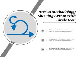 Process Methodology Showing Arrow With Circle Icon