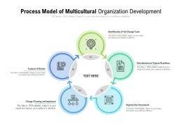 Process Model Of Multicultural Organization Development