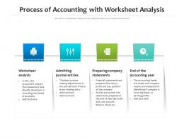 Process Of Accounting With Worksheet Analysis