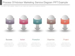 Process Of Advisor Marketing Service Diagram Ppt Example