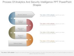Process Of Analytics And Security Intelligence Ppt Powerpoint Shapes
