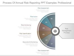 Process Of Annual Risk Reporting Ppt Examples Professional