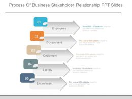 Process Of Business Stakeholder Relationship Ppt Slides