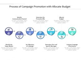 Process Of Campaign Promotion With Allocate Budget