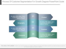 Process Of Customer Segmentation For Growth Diagram Powerpoint Guide
