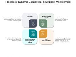 Process Of Dynamic Capabilities In Strategic Management