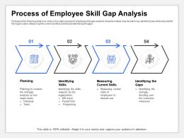 Process Of Employee Skill Gap Analysis Major Levels Ppt Presentation Example File