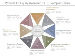 Process Of Equity Research Ppt Examples Slides
