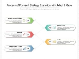 Process Of Focused Strategy Execution With Adapt And Grow