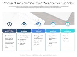 Process Of Implementing Project Management Principles