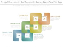 Process Of Information And Data Management In Business Diagram Powerpoint Guide