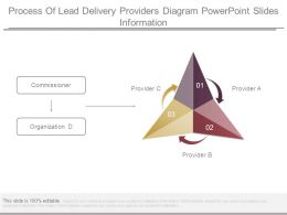 Process Of Lead Delivery Providers Diagram Powerpoint Slides Information