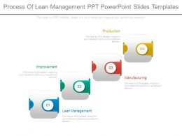 Process Of Lean Management Ppt Powerpoint Slides Templates