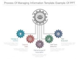 Process Of Managing Information Template Example Of Ppt