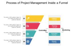 Process Of Project Management Inside A Funnel