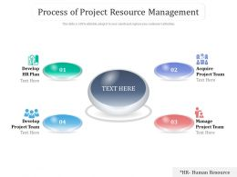 Process Of Project Resource Management
