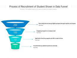 Process Of Recruitment Of Student Shown In Data Funnel