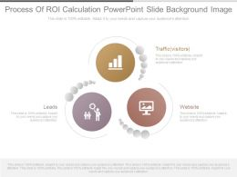 Process Of Roi Calculation Powerpoint Slide Background Image