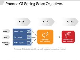 Process Of Setting Sales Objectives Sample Of Ppt