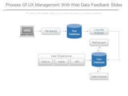 Process Of Ux Management With Web Data Feedback Slides